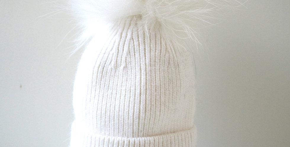 New Born Hat White