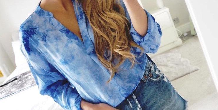 Tie Dye Shirt Blue