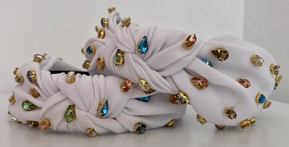 Jewel Headband - White