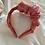 Thumbnail: Side Volume Satin Headband Pink