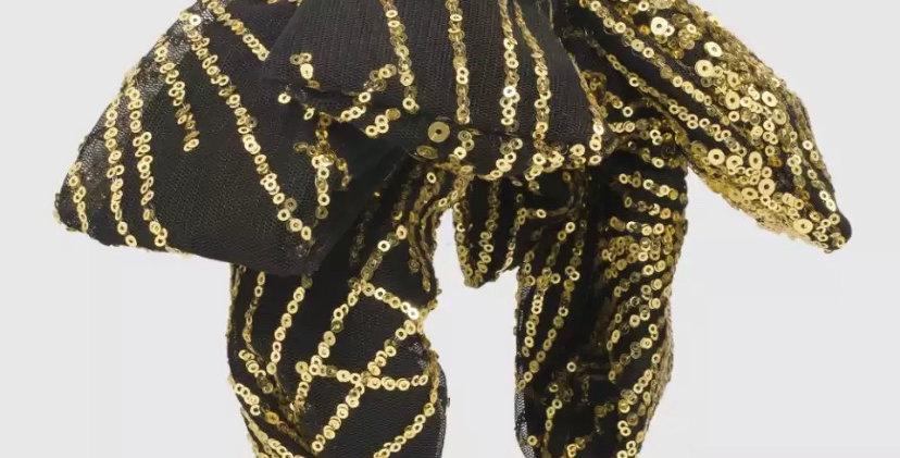 All That Glitters Bow Headband - Black