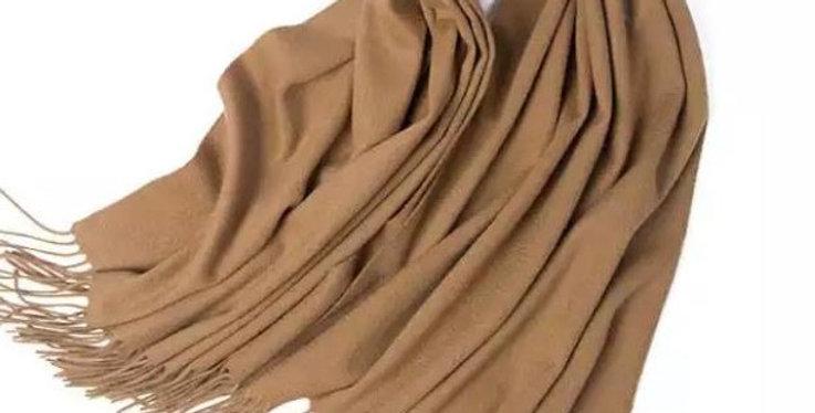 100% Wool Personalised Luxury Scarf Camel
