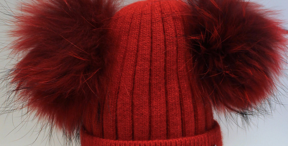 Adults Classic Double Hat Bright Red