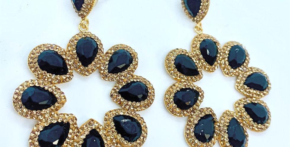 Halo Earrings- Black