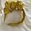 Thumbnail: Side Volume Satin Headband Yellow