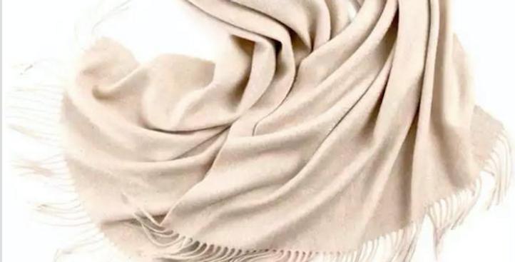 100% Wool Personalised Luxury Scarf Oat