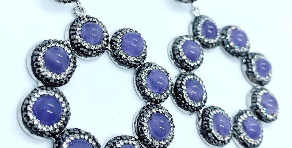 Sicily Earrings - Purple