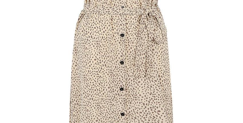 Cecilia Animal Print Shirt Dress