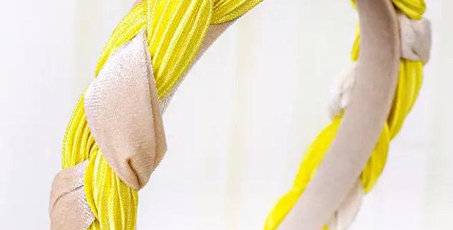 Plaited Headband - Yellow
