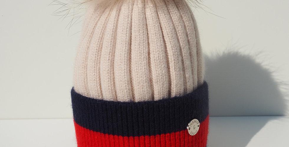 Kids Stripe Beige Mix Single Hat