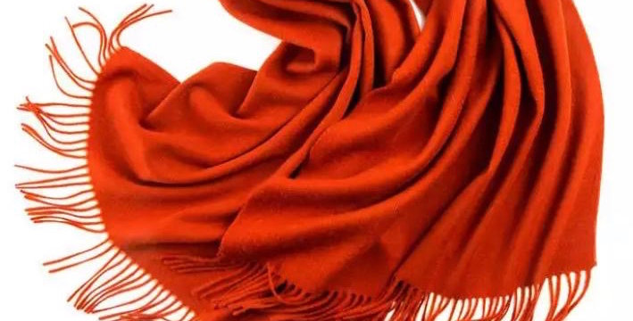 100% Wool Personalised Luxury Scarf Deep Terracotta
