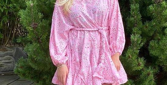 Pastel Pink Swing Dress