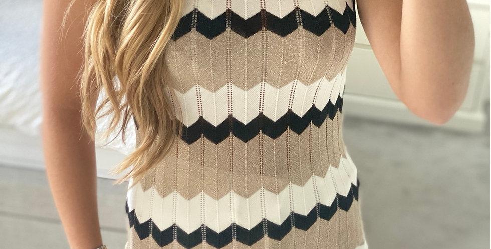 Glitter Fine Knitted Vest Top