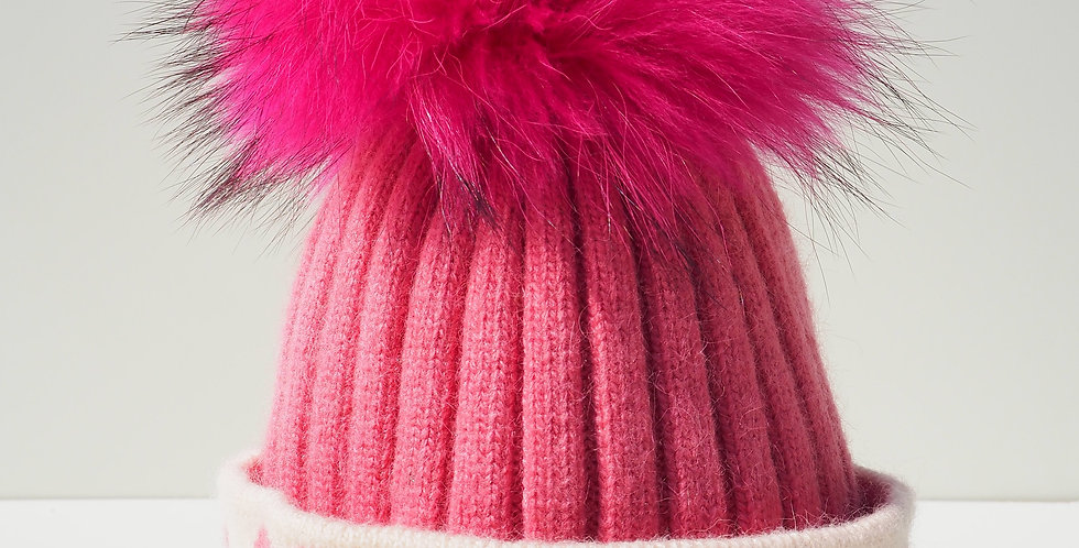 Kids Bright Pink Hearts Single Hat