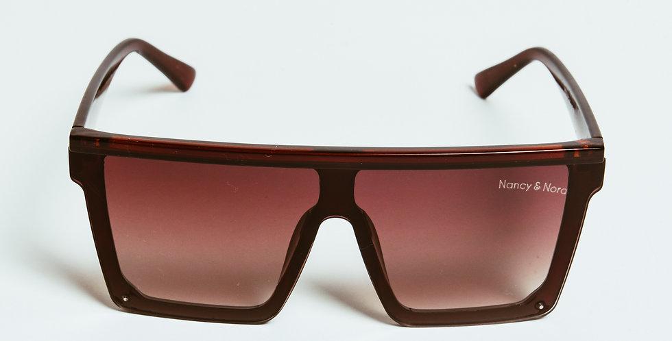 Aimee Oversized Sunglasses Coffee