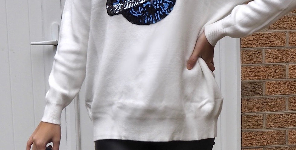 Out of this World Jumper White