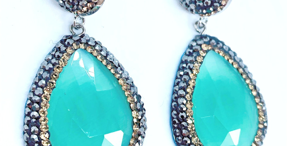 Fiji Earrings - Aqua