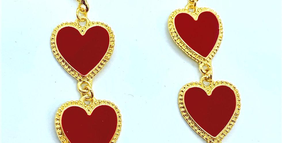 Love Earrings Red