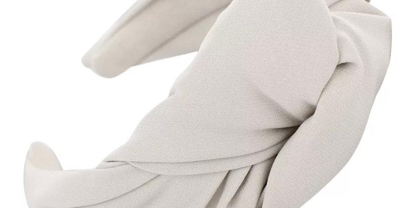 Twist Knot Headband- White