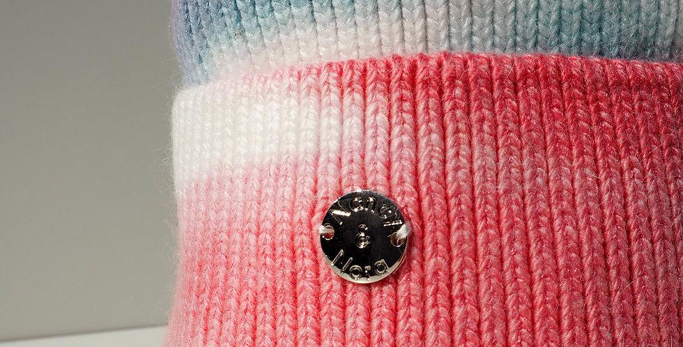 Tie Dye Single Hat Pink and Purple