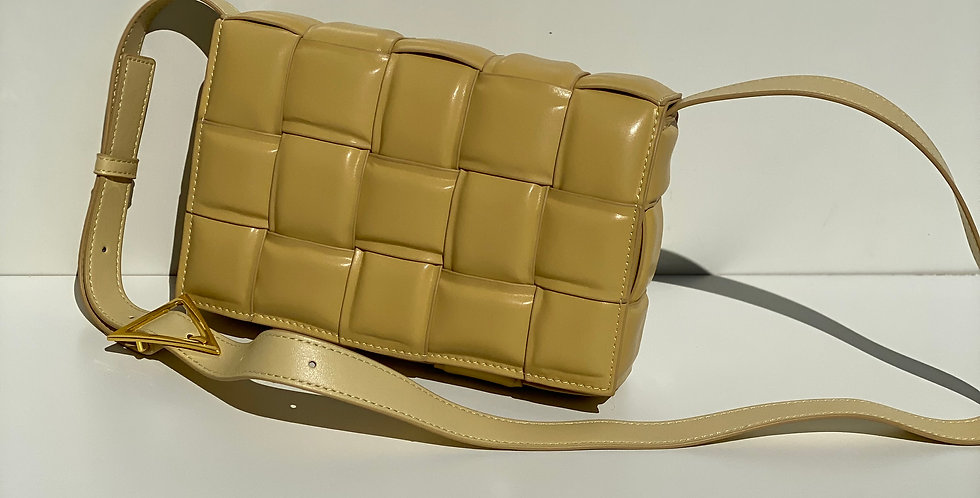A La Mode Leather Cross Body Bag Lemon