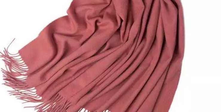 100% Wool Personalised Luxury Scarf Rose Pink