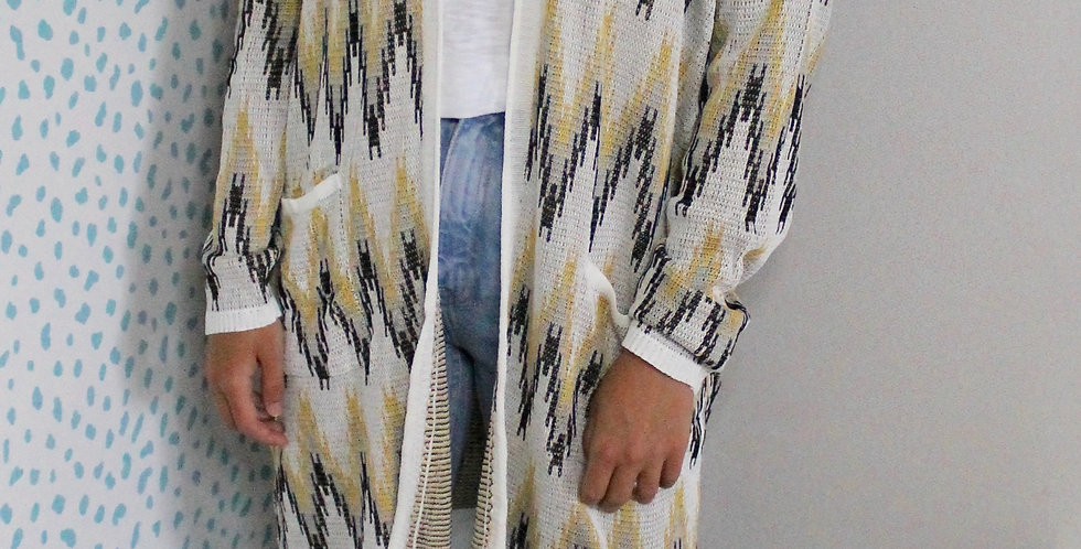 Missé Cardigan White and Gold