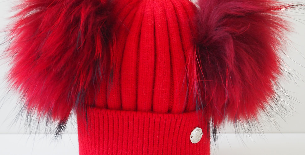 Kids Classic Double Hat Red