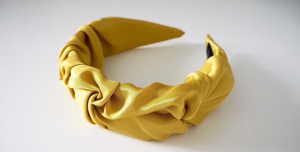 Ruched Satin Headband Olive