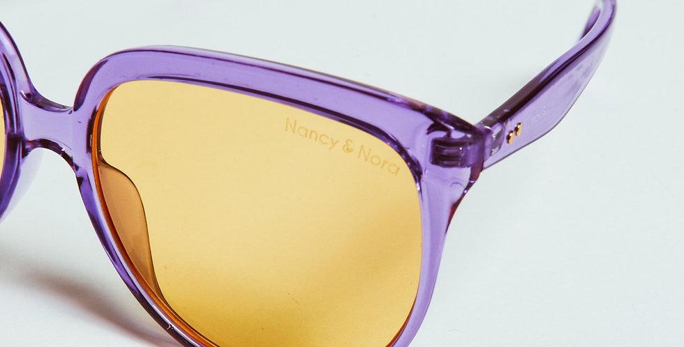 Flo Sunglasses Purple with yellow lens