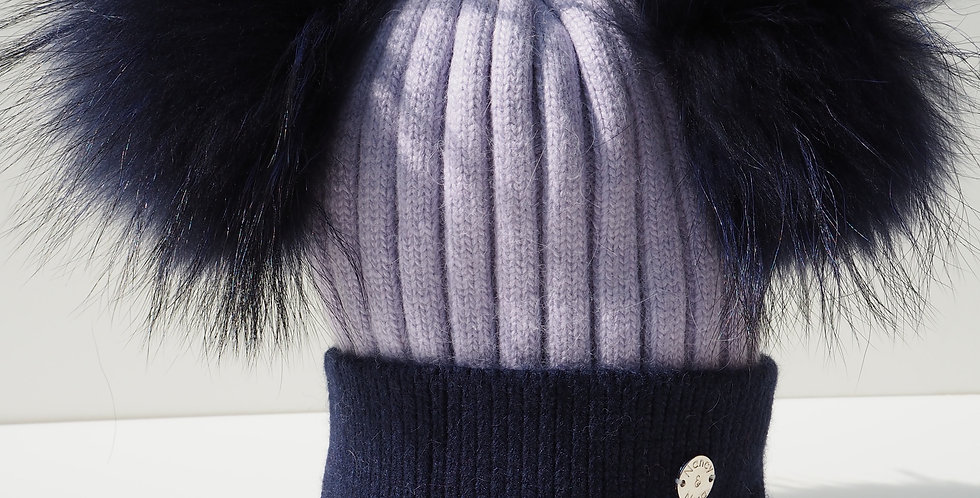 Adults Two Tone Double Hat Purple and Navy