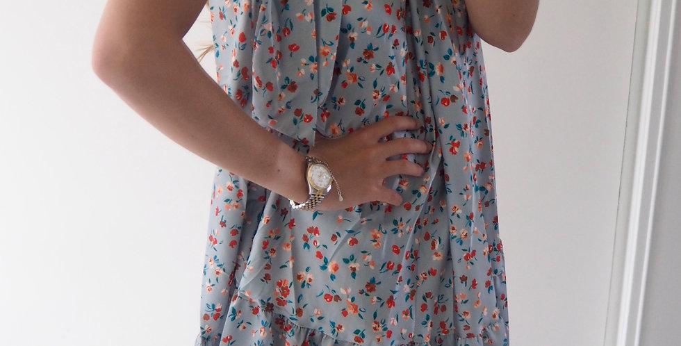 Rosebud Dress Sage Green