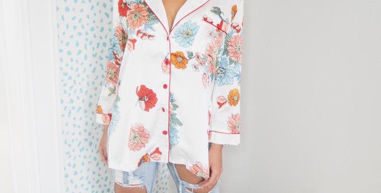 Pansy Pyjama Style Shirt