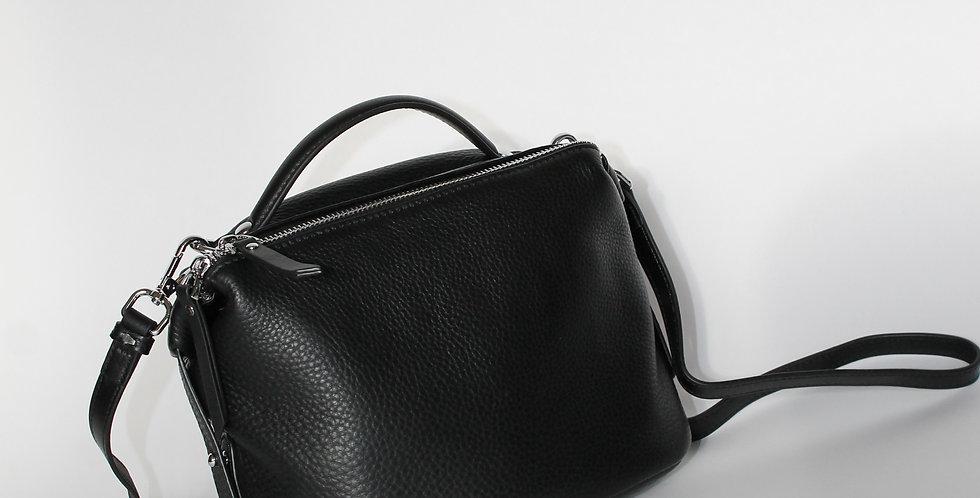 ROKA Leather Cross Body Bag Black