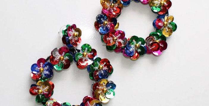 Full Bloom Earrings Multi Coloured