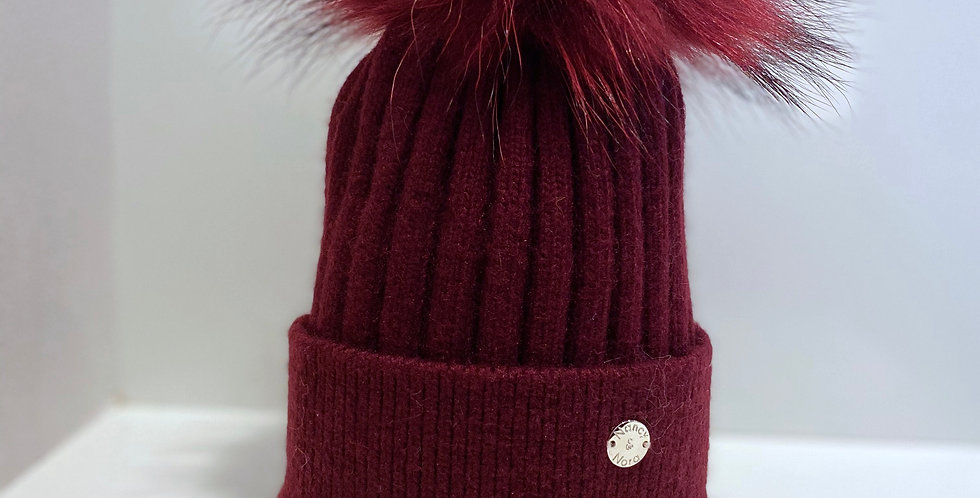 Adults Classic Single Hat Wine Red