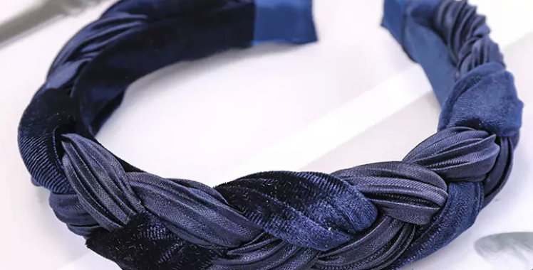 Plaited Headband - Navy