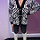Thumbnail: Zebra Cardigan with gold buttons