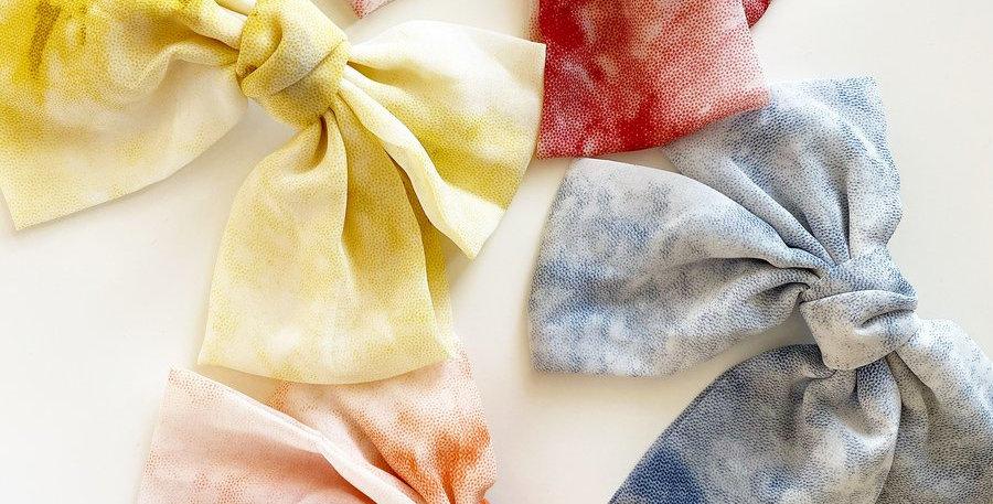 Silk Tie Dye Bows