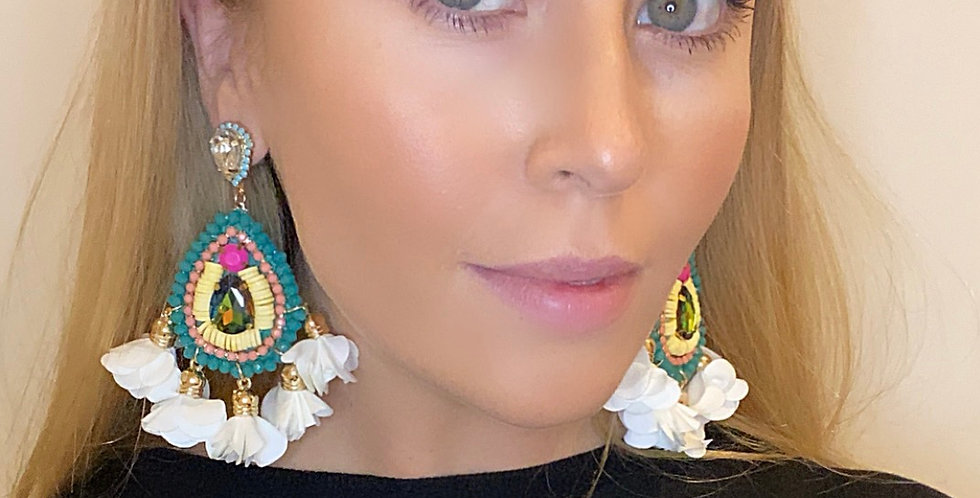 Fiesta Earrings White