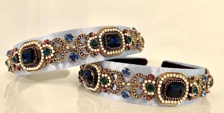 Olive Headband Blue