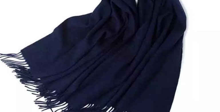 100% Wool Personalised Luxury Scarf Blue Black