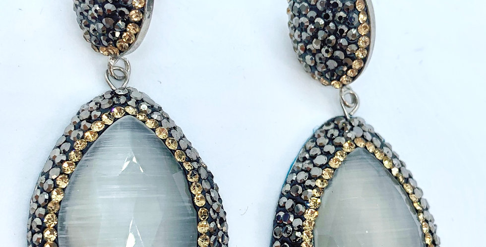 Fiji Earrings - Grey