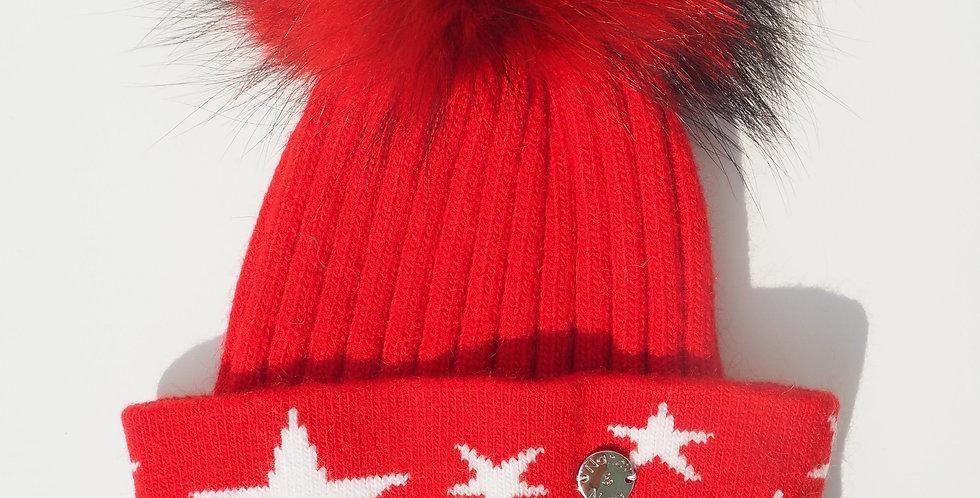 Kids Red Stars Single Hat