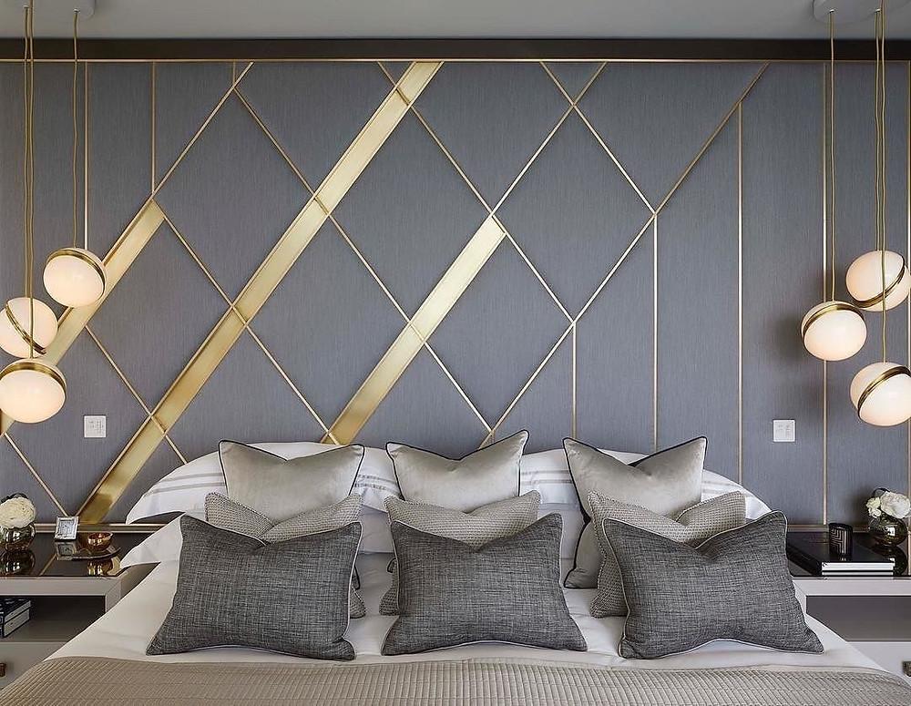 Modern bed headboard design, Lid interior, Best Interior Design Company In Kolkata