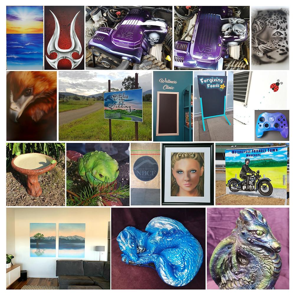 MBF Member Profile, Kate Richardson's airbrush works