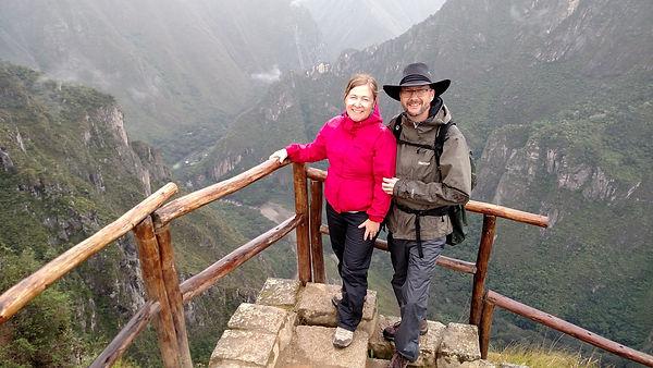 Scott & Cindy Overlooking Aguas Caliente Peru.