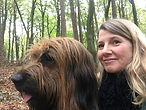 Petra Schilske mit ihrem Hund Grisou vom Vossberg