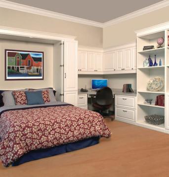 white-murphy-bed-office-EZ-Rest Murphy Bedz- 931-254-3696