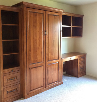 EZ-Rest Murphy Bedz- 931-254-3696-Murphy-Bed-Cherry-with-side desk